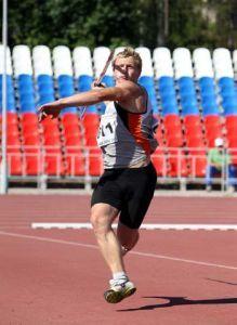 Бронзовый призер России по метанию копья Сергей Ивченков