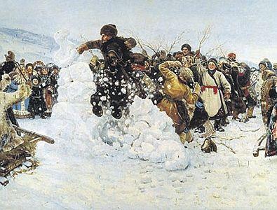 Василий Суриков. «Взятие снежного городка»