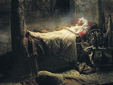 Иллюстрация к сказке Ш. Перро «Спящая красавица»