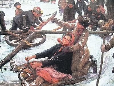 Федот Сычков. «Деревенская карусель»