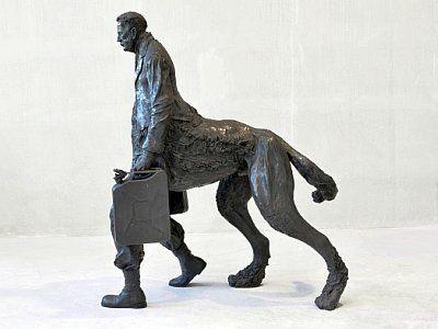 Нео Раух. Скульптура «Арьергард»